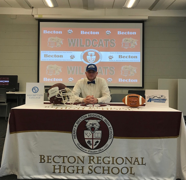 Senior Quarterback Michael Bolwell has signed to attend Assumption College.