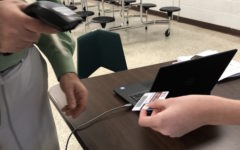 Turnstile check-in tool automatically records student tardies