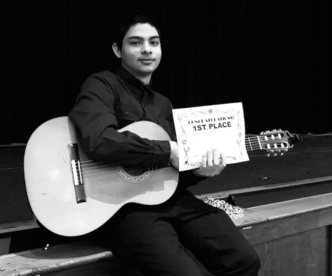 Senior Skwarek places first at Becton Talent Show