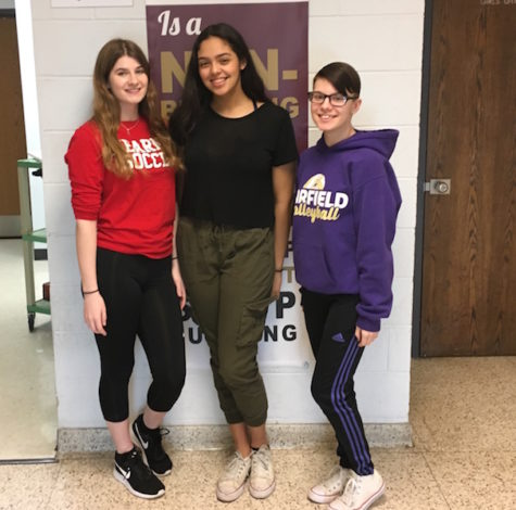 Becton juniors Lynda DeCarlo, Jaylen Nuila, and Beth Zuwatsky have been selected to attend this year's Girls' Career Institute.