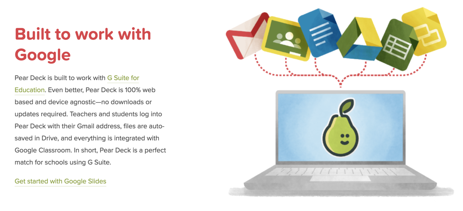 The purpose of Pear Deck, which is an add-on for Google Slides, is to help further engage students in active learning.