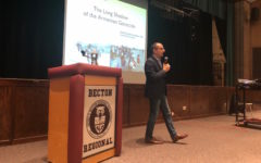 Dr. Khatchig Mouradian presents BRHS students with lecture on Armenian Genocide