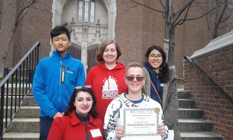 Becton Debate Team successfully participates in Penn Model Congress