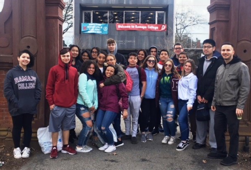 Becton juniors enrolled in the SAT Prep elective visited Ramapo College on April 10.