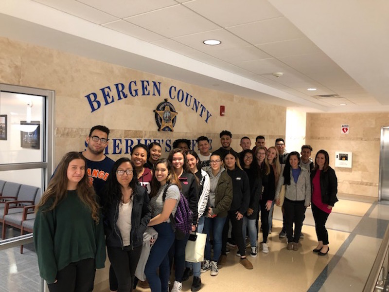 Twenty students enrolled in Becton's Criminal Justice elective attended a field trip to the Bergen County Courthouse on April 27.