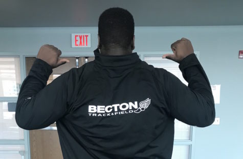 Senior Greg Anderson holds Becton's shot put record.