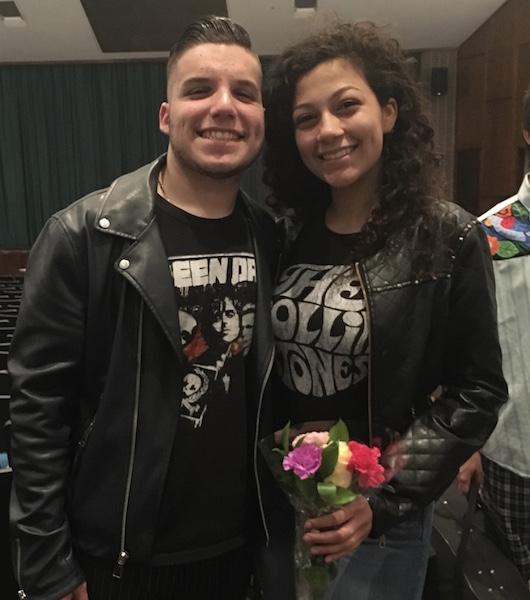 Seniors Tyler Koch and Gabriela Ocasio have participated in Becton's  music program throughout their high school career.
