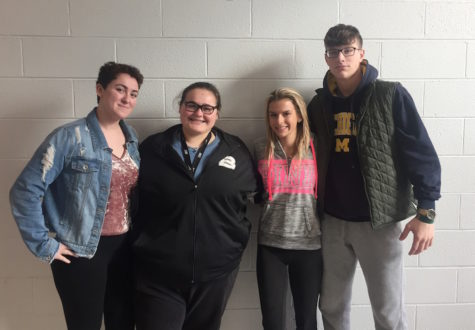 Mrs. Gatto & GHG members help BRHS 'Light It Up Blue'