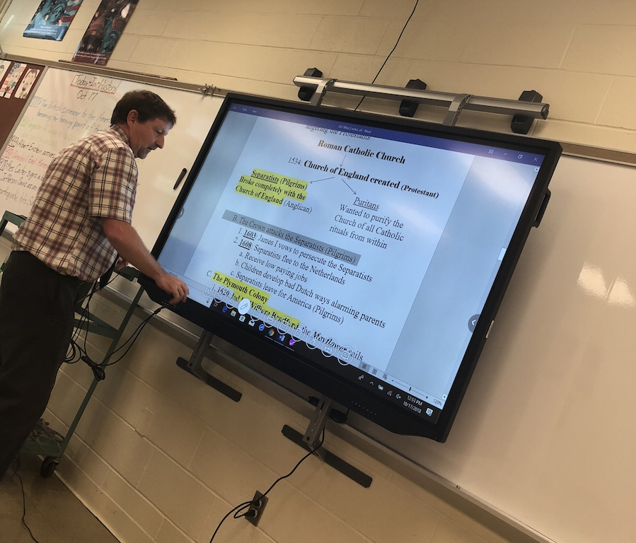 History+Instructor+Mr.+Ryan+was+one+of+the+teachers+to+receive+a+touchscreen.