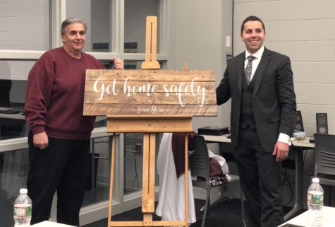 Wooden plaque created to honor late custodian