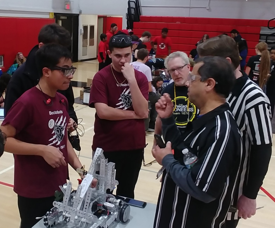 The BectoBots debut their robot at the January 6 competition held at Emerson High School.