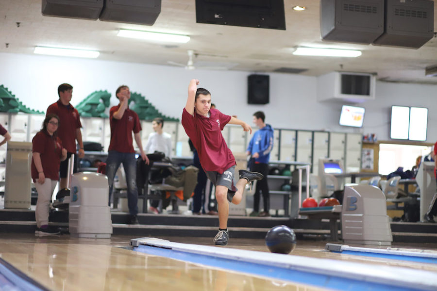 Senior Trevor Deliantis bowled a 279 at the game against Secaucus last week.