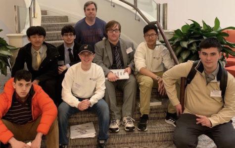 Pictured (L to R): Aleksander Chernaev, Tenzin Jorden, Jason Hailos, Mr. Carr, Blaze Grabowski, Hunter Sefranek, Michael Lahullier, and Ewan Lee