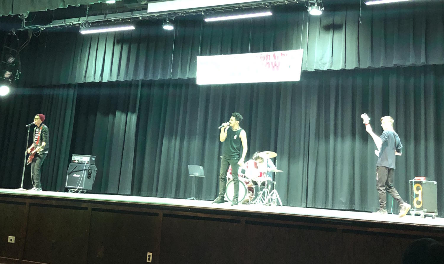 S.O.A.P., which stands for Starts Over A Planet, placed first at Becton's annual talent show.