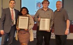Crespo, Guyre receive first student 'Superintendent Leadership Award'