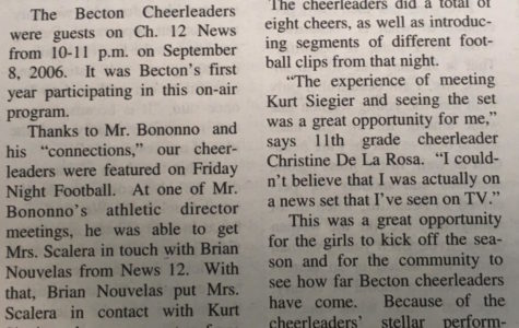Becton Cheerleaders Debut on TV