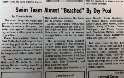 Swim Team Almost 'Beached' By Dry Pool