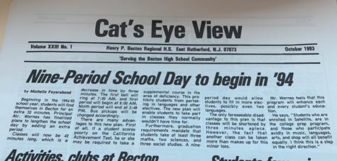 Nine-Period School Day to Begin in '94