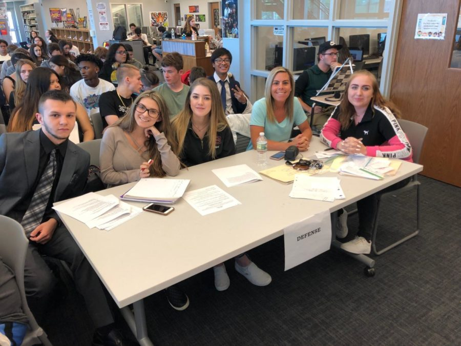 Forensics & Criminal Justice classes combine to perform CSI investigation, mock trial