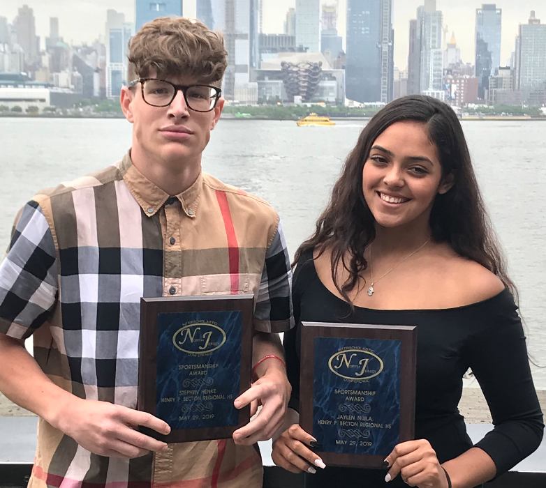 Both Stephen Henke and Jaylen Nuila received their athletic awards at the NJIC Sportsmanship Luncheon on May 29.