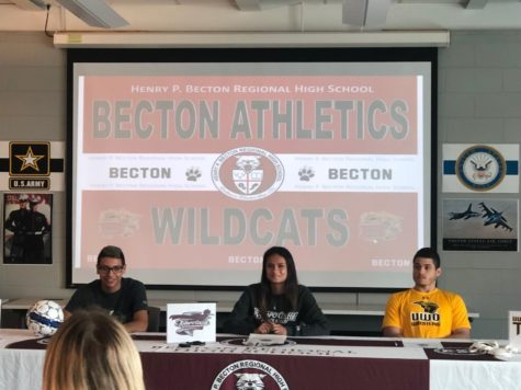Becton's first 'Military Signing Day' honors Willis, Cardona, Chattaway & Alexander