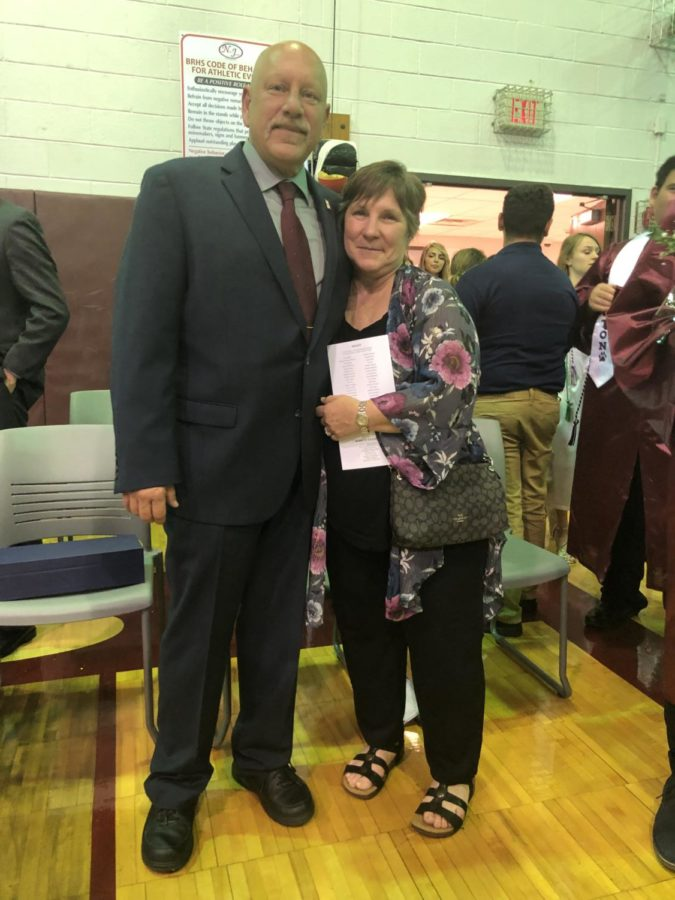 Mr. Dennis Monks and his wife, Pat, at the Becton Commencement Ceremony