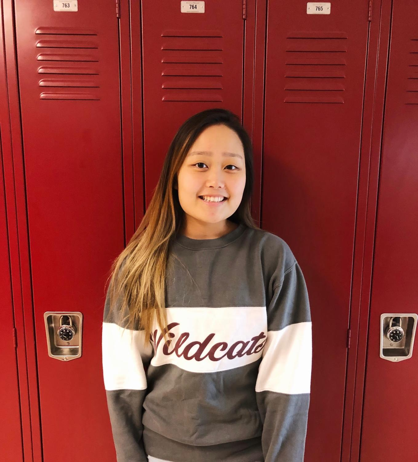Cecilia Kang happily accepts October Student of the Month