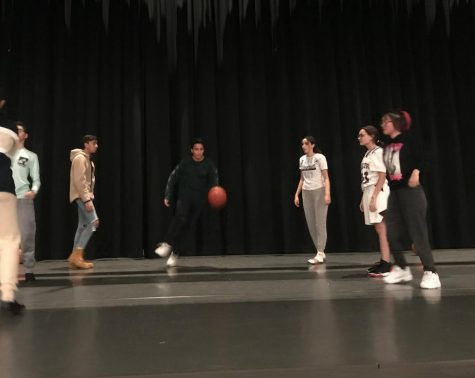 Students practice their moves for