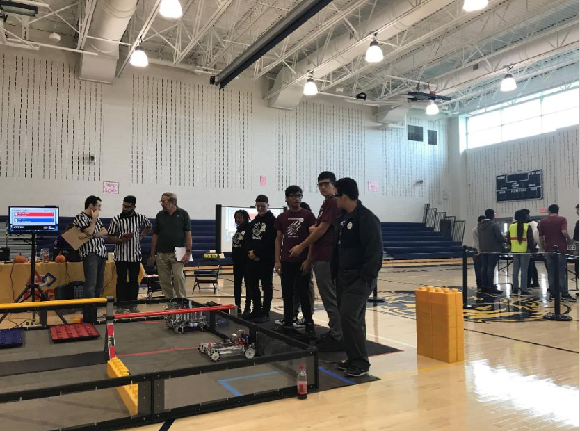 Lead by Senior Dylan Valenzuela, The Becton Robotics team Competes.
