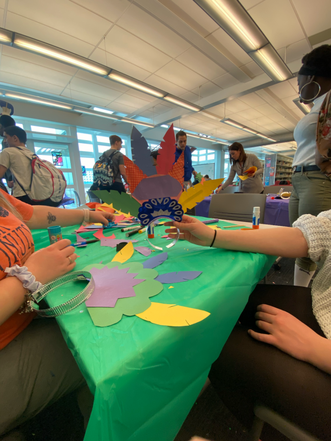 Art & Foreign Language Students create Rio de Janeiro Hats to Celebrate Carnivale at Becton