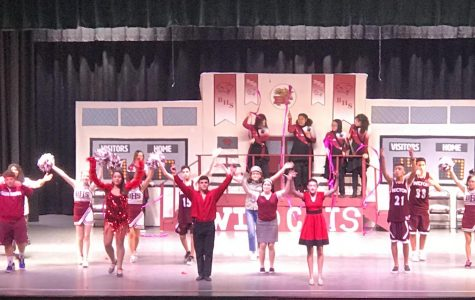 The cast of High School Musical: On Stage! strike a pose.