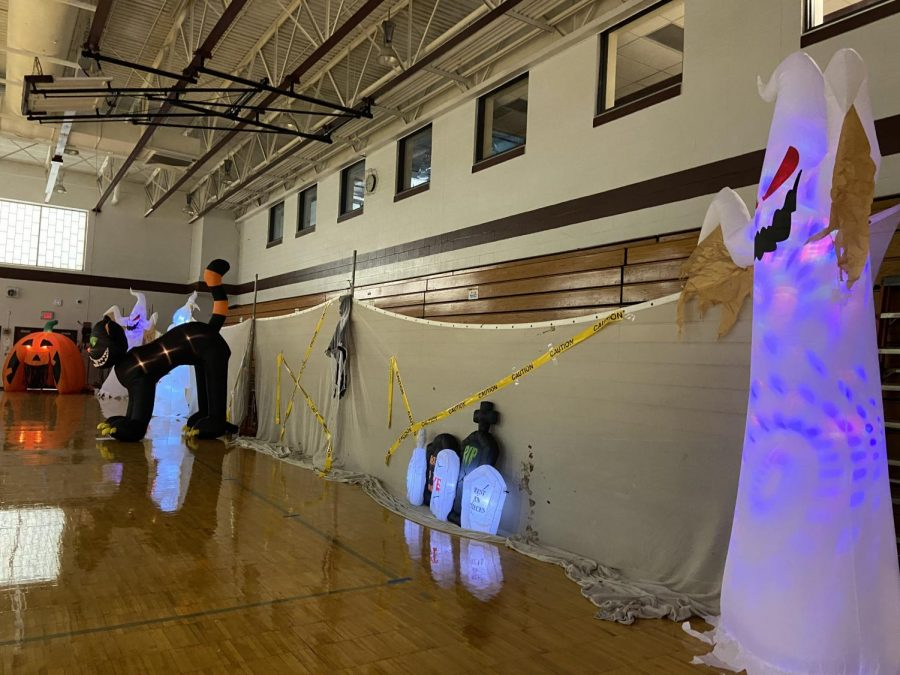 Decorations galore in the gym
