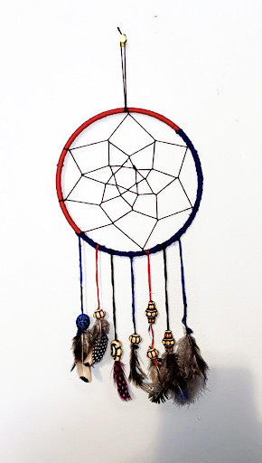 Becton art student, Tenzin Woser, created a dream catcher as a symbol of oneness among numerous indigenous cultures and regions.