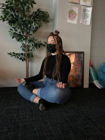 Junior Aurora Marin completed meditation at the Becton Wellness Center.