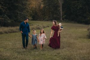 Pictured above is Dr. Dario Sforza, his wife, and his three children.